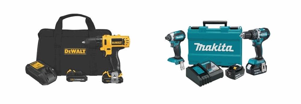 DeWalt vs Makita Cordless Drill